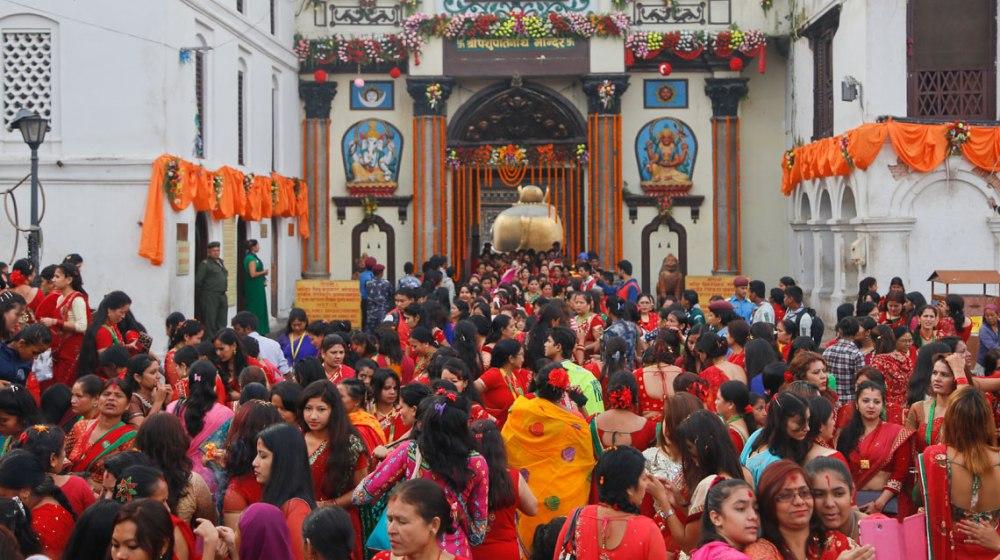 आज हरितालिका तीज : महिलाहरुले महादेवको मन्दिरमा गएर पूजा आजा गरी मनाइँदै